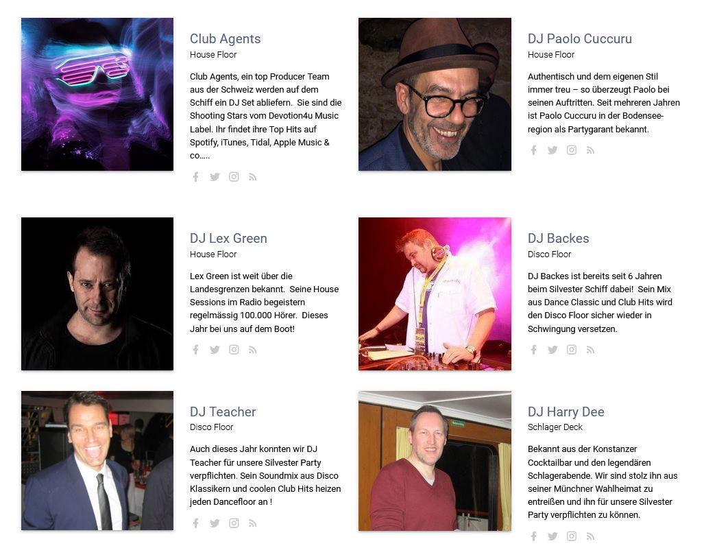 DJ's an Bord
